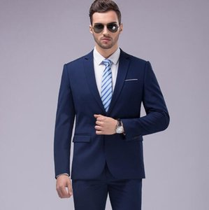 2019 Custom Slim Fit Men Suit 3Pcs Notched Lapel Blazer Mens Wedding Prom Suits Best Man Groom Tuxedo Formal Jacket Pants Vest