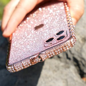 Suitable for iPhone 11pro max new luxury fashion rhinestone metal snake crown frame mobile phone case