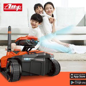 HD Kamera ATTOP YD-211 Wifi FPV 0.3MP Kamera App Uzaktan Kumanda Tank RC Oyuncak Telefon Kontrollü Robot Model Oyuncak Hediye ile RC Tank