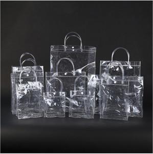 Новая мода ПВХ Женщины Clear Bag Прозрачный Tote Luxury Design Cosmetic Плечи Hangbags хранения сумки для стадиона Work Approved