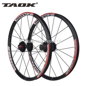 TAOK originales 20 '' de 20 pulgadas con agujeros 406 Lamer bicicletas plegables de ruedas de montaña del freno de disco de ruedas