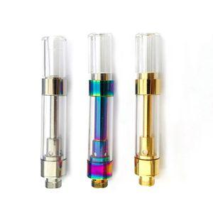 Keine Undichte Jupiter 6 Öl Carts Regenbogen Gold Rund Tipps Keramik Coil Press G5 Cartridges M6T TH105 TH205 510 Dank Vapes sigaretta elettronica