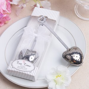 Heart Tea Infuser in Elegant White Gift Box wedding party favors gifts