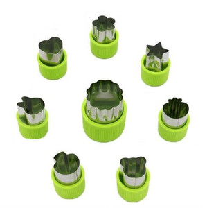 8Pcs Lot Kitchen Cooking Baking Tools Cute Funny Mini Biscuit Cookie Cutters Set Fruit Vegetable Slicer Cutters Moulds for Child