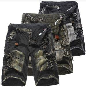 Mens Cargo-Shorts Sommer-beiläufige Cargohose Dünne Shorts withi 3 Farben plus Größe asiatische Größe M-5XL Freies Verschiffen