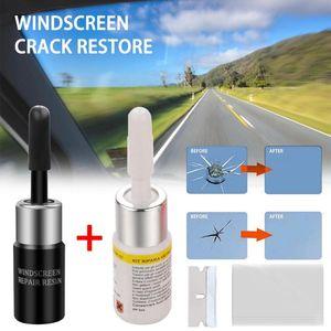 2pcs Automotive vidro Nano Repair Fluid Car Repair Janela de vidro crack Chip Ferramenta Kit Carro Estável Janela Fluid fixo