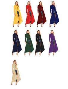 Abbigliamento Donna Moda Irregolarità collare del basamento Designer Trench Primavera cerniera a maniche lunghe cappotti Nuovo casuale