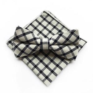 Moda Sólidos casamento Homens Pretos do bege Negócios Bow Ties gravatas de marca de algodão lenços para homens Skinny Tie Mulheres Gravatá