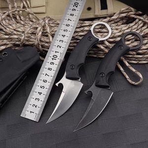 прямые karambits ножи автоматического выживания охотничий нож складной нож лезвие коготь EDC утилита Кемпинг Самооборона тактические Кортики
