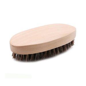 Barba Bro Shaping Barba Cepillo Venta caliente de los hombres de moda Barba Barba Mango de madera de cerdas Peine herramienta de peinado jabalí cerdas envío gratis