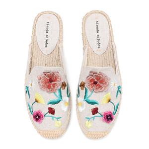 tienda soludos Pantoffeln Maultiere Dias Schuhe Frauen Espadrilles Sandalen für flache Schuhe der Frauen Größe 11