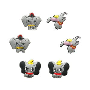 1pcs 1Set Lovely Dumbo PVC Shoe Charms Buckles Shoes Accessories Decorations Ornaments Fit For Croc JIBZ Shoes Bands Party Gift