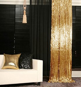 LQIAO or Sequin Backdrop rideau 4x10ft Sparkly Sequin Tissu Photo Booth Backdrop Rideau mariage Birthday Party Decoration T200115