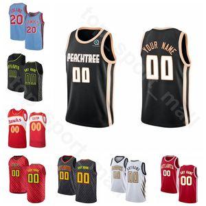 Ekran Baskı Basketbol Vince Carter Jersey Damian Jones, Kevin Huerter Dewayne Dedmon Jeff Teague Treveon Graham İl Biten Sürümü