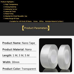 5m Doppelseitiges Klebeband Waschbar Reuse Nano Magie Transparent No Trace Wasserdicht Adhesive Nano-Tape Klar