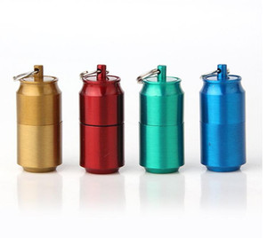 Cans Gasoline Lighter Capsule Kerosene Lighter Inflated Keychain Oil Grinding Wheel Lighters 3 Styles Choose For Kitchen Camping Smoking Use