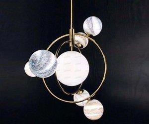 Wandering Earth Design Pendelleuchten LED-Innenleuchten Nordic Hängelampen Postmoderne Wohnzimmerpendelleuchten LLFA