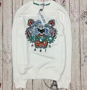 Горячая распродажа бесплатная доставка 2019 зима женская мода мужчины женщины вышитые тигровый свитер марка женщины мужчины толстовка с капюшоном кофты флис KENZ