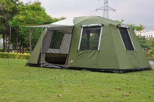 2017 alta calidad 6-12 personas gran espacio súper fuerte carpa de fiestas prueba de viento impermeable de camping en familia