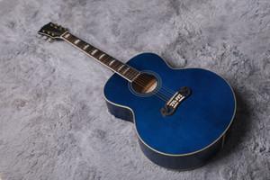 월드 기타 43 인치 J200 배럴 둥근 스카이 블루 컬러 기타