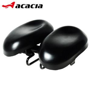 ACACIA Double Noseless Adjustable Bike Saddles Padded Multi-function Easyseat Ergonomical Dual Pad Bicycle Saddle