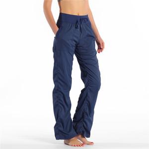 Yoga Dans Pantolon Yüksek Bel Spor Spor Rahat Lady Gevşek Pantolon Kadın Spor Tayt Spor Sweatpants Femme Yoga Açık Koşu Pantolon