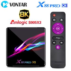 X88 PRO X3 8K 4GB 128GB TV Box Amlogic S905X3 Android 9.0 1000M dupla Wifi Quad Core Smart Box TV