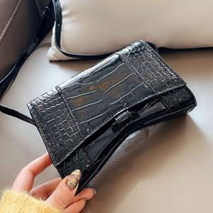 크로스 바디 가방 휴대 전화 가방 지갑 지갑 정품 가죽 악어 어깨 스트랩 편지 여성의 어깨 여행 가방 일반 컬러