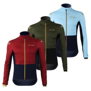 2020 Длинный рукав Джерси Мужчины Тонкие разделе Колготки рубашки Le Col Pro Team равномерная дорога велосипед одежды на заказ MTB езда на велосипеде комплект Ciclismo