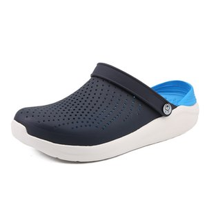 Outdoor Men Slippers Breathable Walking Beach Sports Sandals Hole Shoes fashion Summer flat Round Toe slipper shoe outside Mar 4