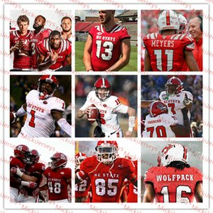 Custom NC State Wolfpack Futbol Jersey Cary Angeline Ricky PersonDevin Leary Emanuel McGirt Taiyon Palmer NC. Devlet Jersey