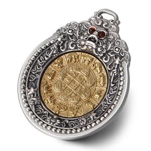 925 pendentif en argent sterling de style chinois vintage pour hommes et femmes le pendentif de personnalité d'animal sauvage mythique bijoux en argent