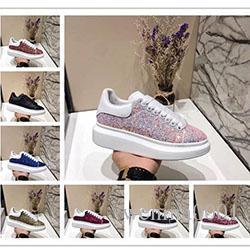 MK01 de diseño único clásicos zapatos casuales zapatos del patín de las zapatillas de deporte de los hombres de las mujeres que brillan zapatos de vestir del talón Tenis