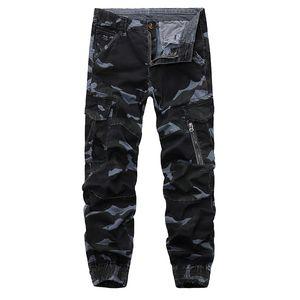 Camo Tactical Cargo Pant Mens Baggy Trouser Hip Hop Cotton Multi Pockets Pants Streetwear Joggers Sweatpants Army pants