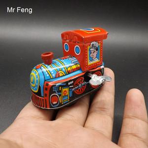 Vintage Metall Zinn Lokomotive Uhrwerk Wind Up Spielzeug Sammler Geschenk Kind Zug (Modellnummer I016)