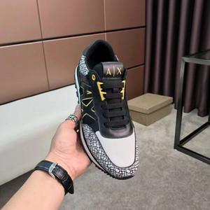 2020 zapatos casuales nuevo otoño de color a juego y marca Tide superficie metálica de malla transpirable de invierno principal redonda de la correa de los hombres jóvenes size38-44 HT15