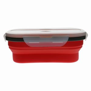 Silicone Food Portable Lunch Box Bowl Bento Boxes Folding Storage Case
