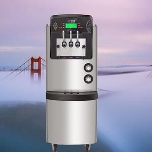 Nueva garantía de la llegada Tailandia hielo crema máquina máquina de helados suaves de tres sabor de un año con sistema de pre-enfriamiento