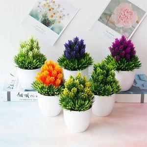 Simulación Botánica Planta en maceta Plástico Plantas verdes Maceta Agujas de pino Maceta de escritorio de piña con diferentes estilos 2 6hq J1