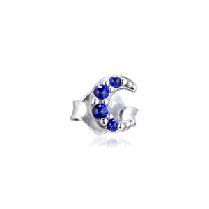 ME مجموعتي القمر احدة مربط القرط 925 فضة مجوهرات أقراط الجديد أزياء نسائية المجوهرات الراقية 298534C01