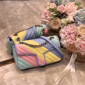 Высокое качество бренда Luxury Multi-Color мешок сумки женщин Известные Кроссбоди сумки на ремне Модельер сумки Кошельки Светская сумки