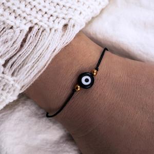 Turc chanceux cristal bleu mauvais oeil bracelets à la main des chaînes d'or corde bijoux