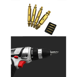 4Pcs set Double-head Broken Wire Extractor Car Tool Damage Screw Bolt Remover S2 Titanium Plated