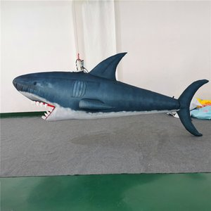 Factory Price Event Decorations Hanging Inflatable Balloon Shark With 10W LED light for Nightclub Ceiling Stage Decoration
