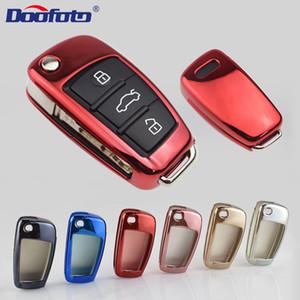 Extérieur de Autoétiquettes Doofoto clés de voiture couverture Autocollant Pour udi Q3 C6 7 6L 4L 8 A1 A3 A4 A5 Q5