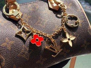 2020 WITH BOX exquisite circular luxury key chain, multiple pendant bag charm fashion key chain E01