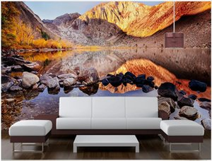 3d wallpaper custom photo Huge mountain forest lake scenery tv background home decor living room 3d wall murals wallpaper for walls 3 d