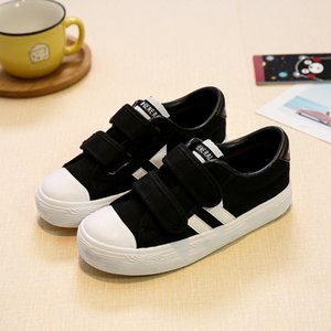 M.JIANG Children Canvas Shoes GIRL'S Shoes Velcro BOY'S White Shoes 2017 New Style
