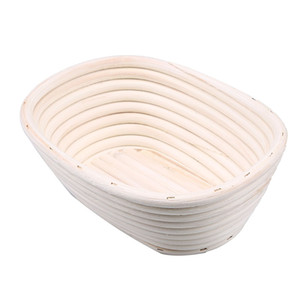 자연 등나무 수 제 빵 발효 그릇 세련 된 라운드 타원형 빵집 제빵 도구 음식 저장 그릇 트레이 주방 디저트 도구