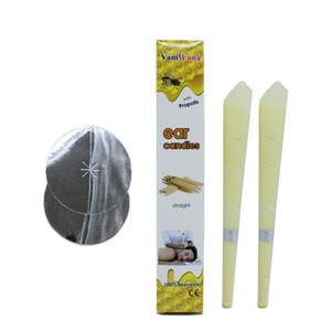 20PCS Ear Candles Ear Wax Clean Removal Cera de abejas natural Propóleos Indiana Terapia Fragancia Cono de vela con propóleos